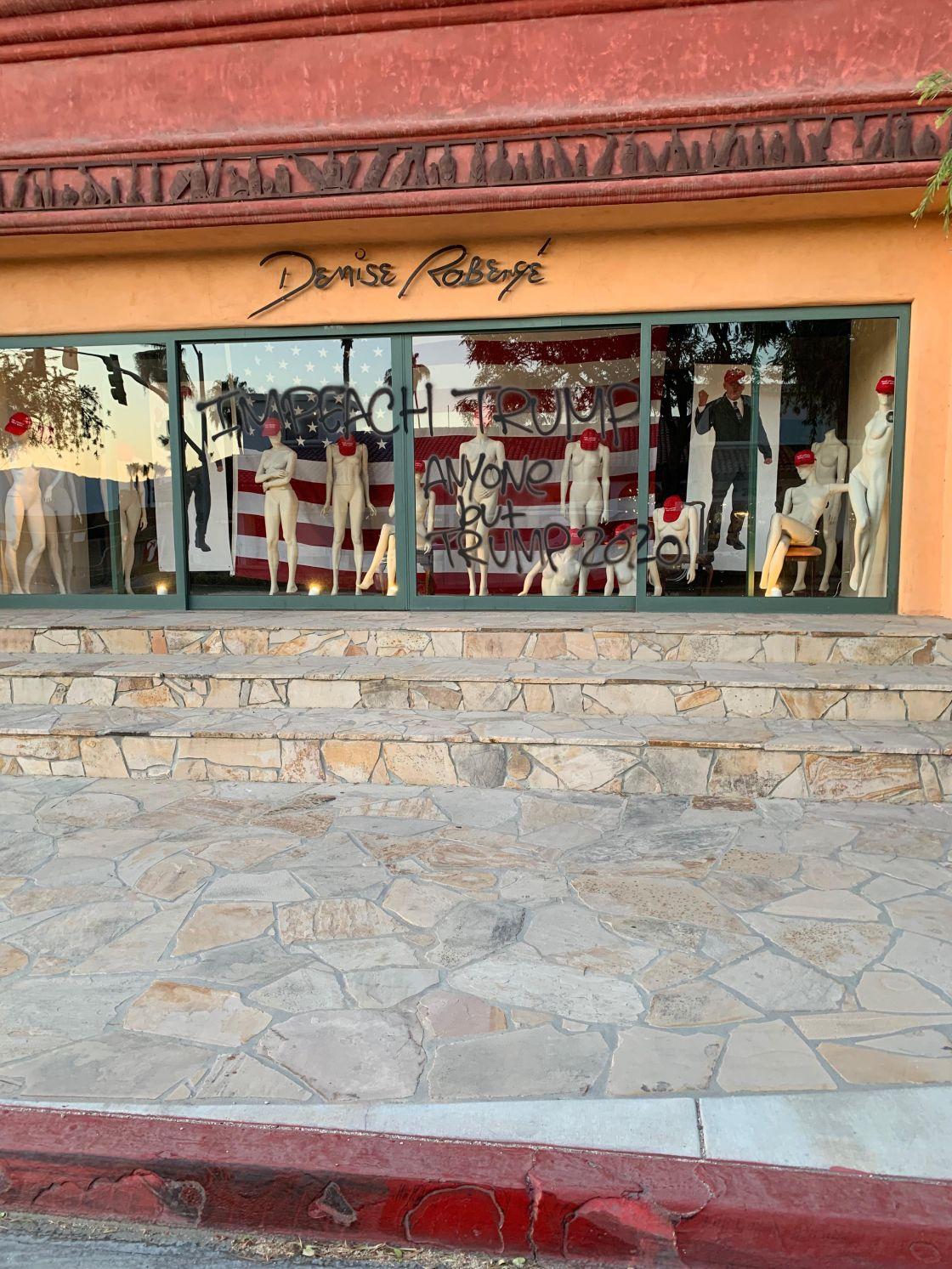 Political Window Display in Palm Desert Causing Controversy