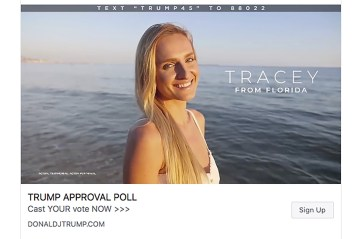 Trump Facebook Ads Use Models to Portray Actual Supporters
