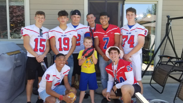 Only 1 person RSVP'd to a party for a boy with autism, so a football team showed up to celebrate