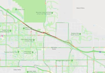 I-10 Reopened Following Downed Power Lines on Palm Desert-Indio Border