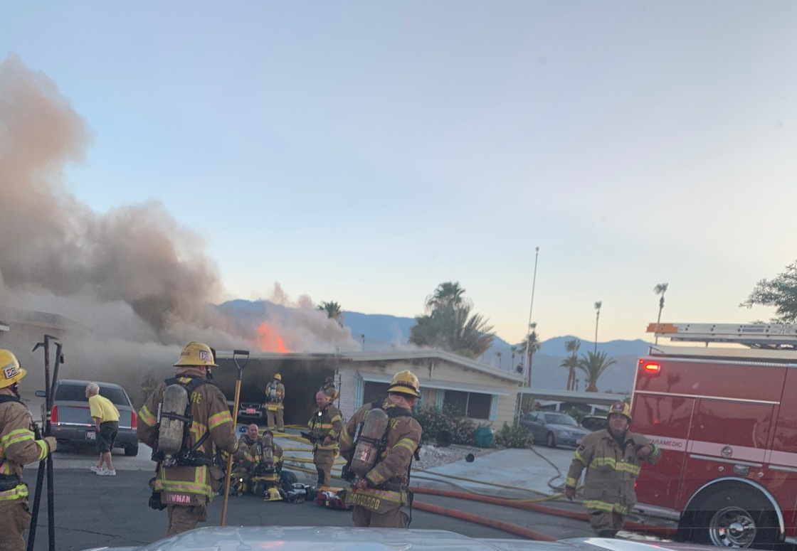 Salute to Heroes: Local Firefighters Save Man From Burning Palm Desert Home