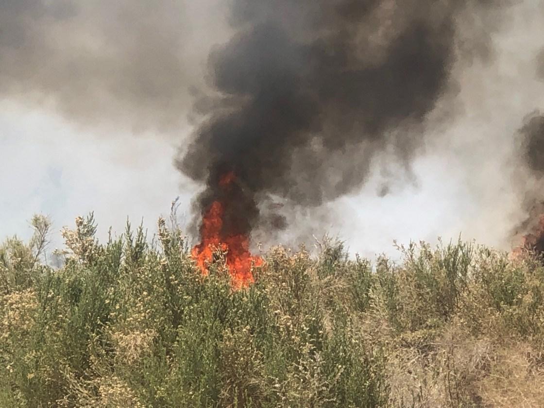 A Coachella Wildland Fire Restarted Monday
