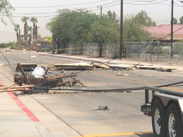 Storms Down Power Poles, Trees in Coachella Valley, Prompting Street Closures
