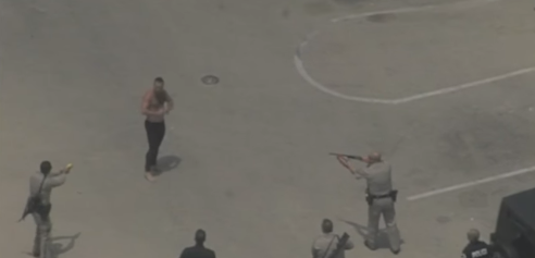 Shirtless Man Hit With Stun Gun as Crowd Gathers at Venice Boardwalk After Chase