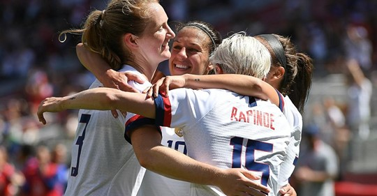 World Cup-Winning U.S. Team to Play Ireland at Rose Bowl in August