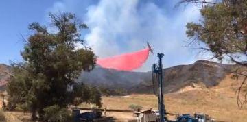 Blaze Burns Along 60 Freeway near Beaumont