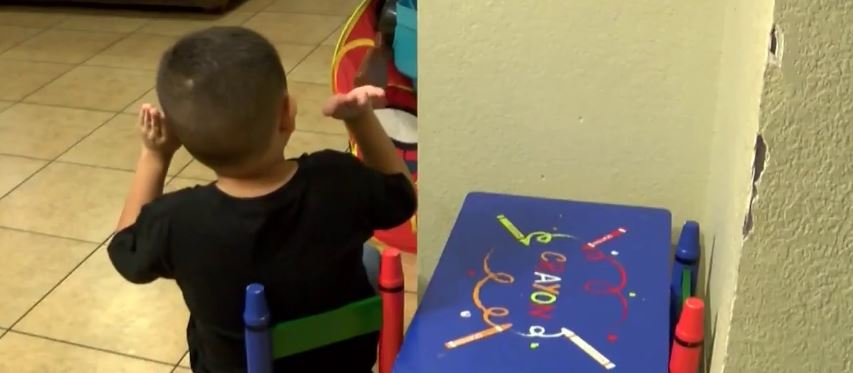 Young Child Left Alone in a Coachella Elementary School Classroom