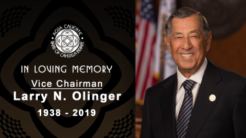 """Above all that, he was my friend"", Band of Cahuilla Indians Honors Former Vice Chairman Larry Olinger"