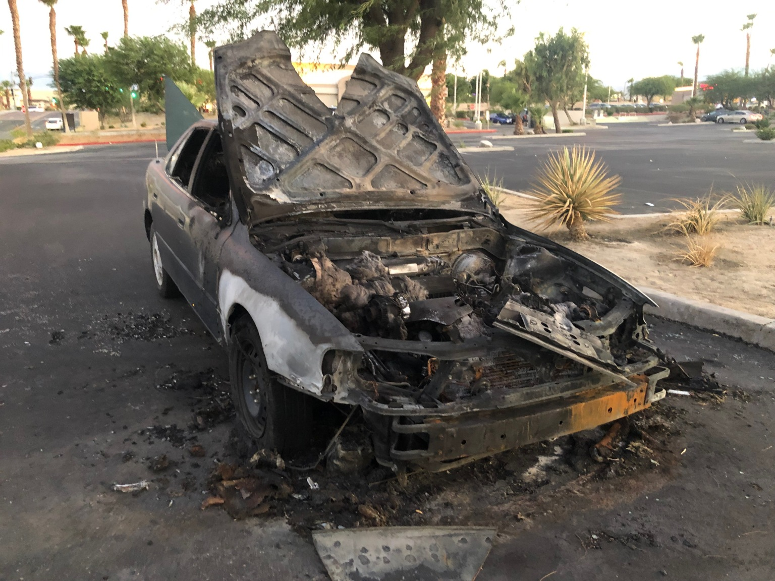 Scorched Car Left in Parking Lot For Over A Week