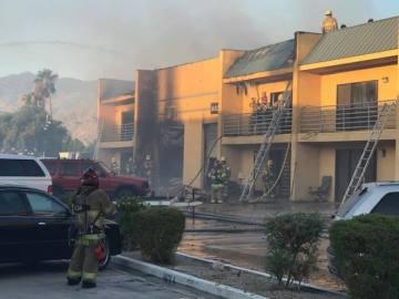 Fire At Palm Desert Business Complex Closes Cook Street