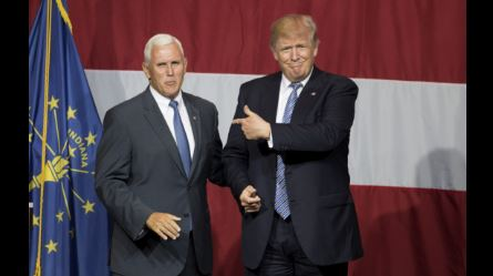 Trump says Pence is '100%' his 2020 running mate