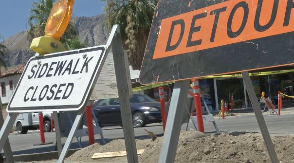 Crosswalks in Downtown Palm Springs Closed Due to Construction