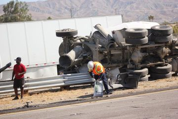 Crash Involving Cement Truck on I-10 Causes Lane Closure