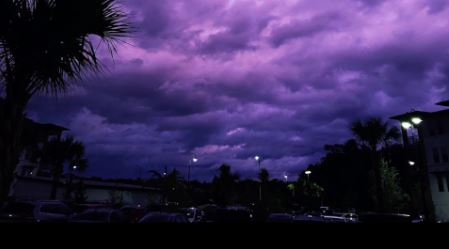 The sky turned purple over Florida as Hurricane Dorian passed by