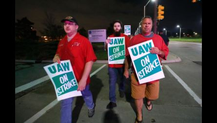 Nearly 50,000 UAW workers go on strike against GM, America's biggest automaker