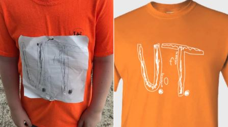 University of Tennessee marching band wears T-shirts designed by bullied fan