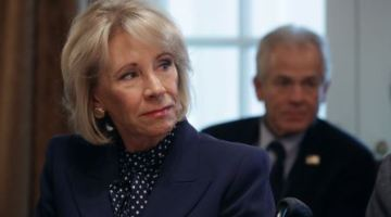 Betsy DeVos violated a court order to stop collecting on some loan debts