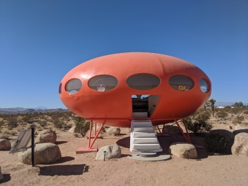 Flying Saucer AirBnb Lands in Joshua Tree