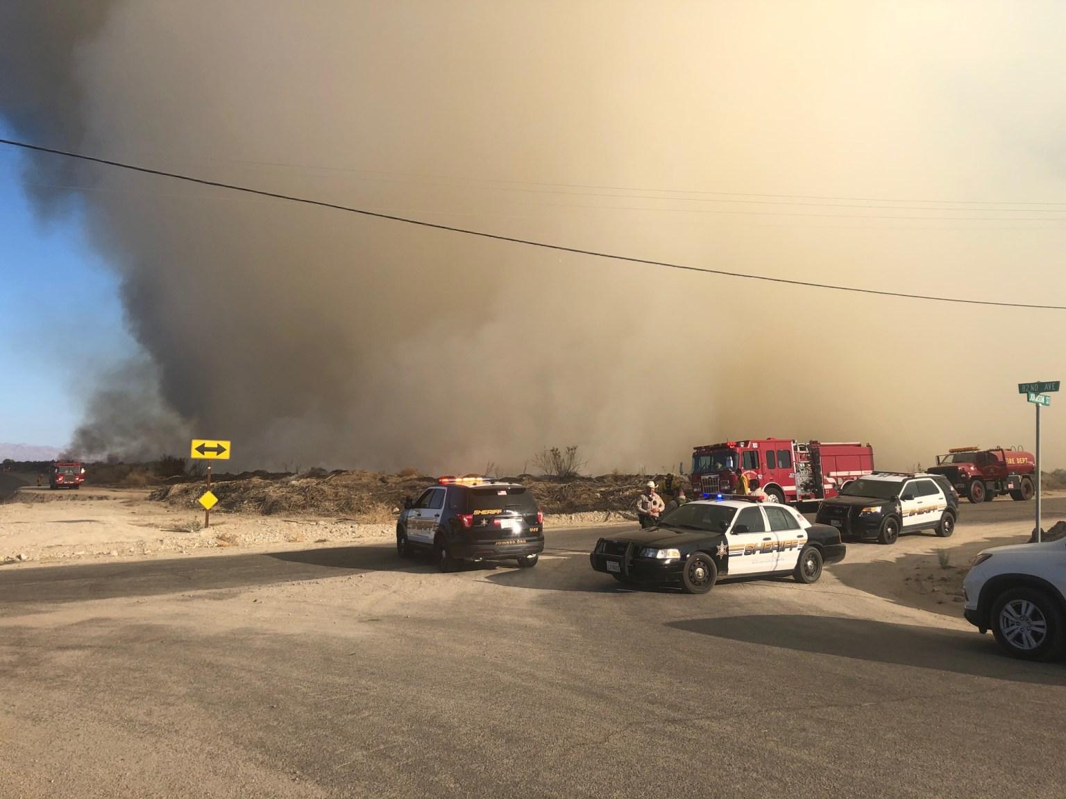 Vegetation Fire Breaks Out in Oasis