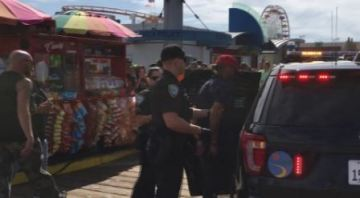 Man in MAGA Hat Arrested After Protestors Pepper Sprayed at Santa Monica Pier
