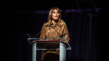 First Lady Melania Trump booed at youth opioid summit in Baltimore