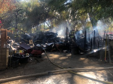 Mobile Home Torched in Thermal; 3 People Displaced