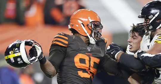Cleveland Browns' Myles Garrett returns to NFL after suspension for hitting an opposing quarterback with his own helmet