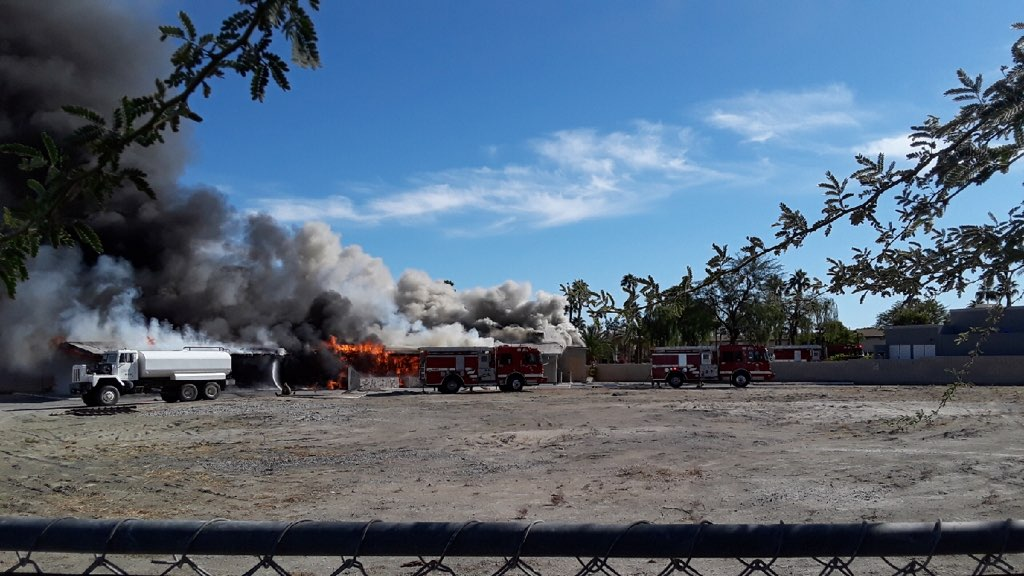 Fire Destroys Old Casey's Restaurant and Lounge in Palm Desert