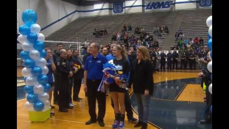 Over 60 officers attend fallen Sergeant's daughter's senior night
