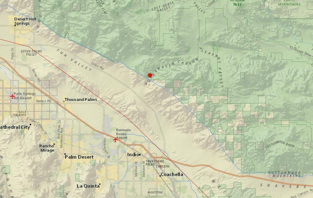 Earthquakes Magnitude 3.0 and 3.5 Felt in Indio