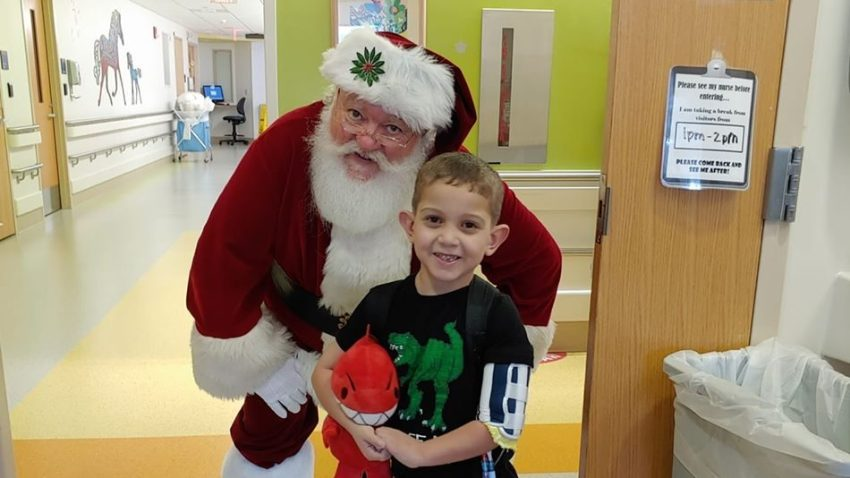 Boy stuck in hospital for Christmas asking for holiday cards
