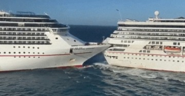 Two Carnival cruise ships collide in Cozumel, Mexico