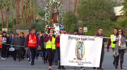 Hundreds Continue Tradition of Lady of Guadalupe Walk