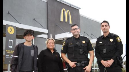 McDonald's employees call police after a woman mouths 'help me' in the drive thru
