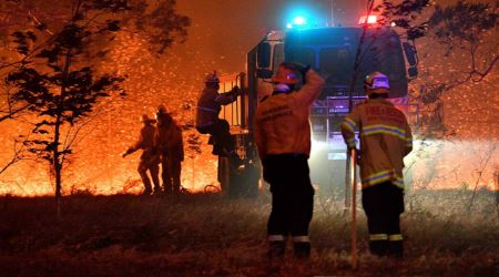 The California firefighters who volunteered to battle flames in Australia have returned home