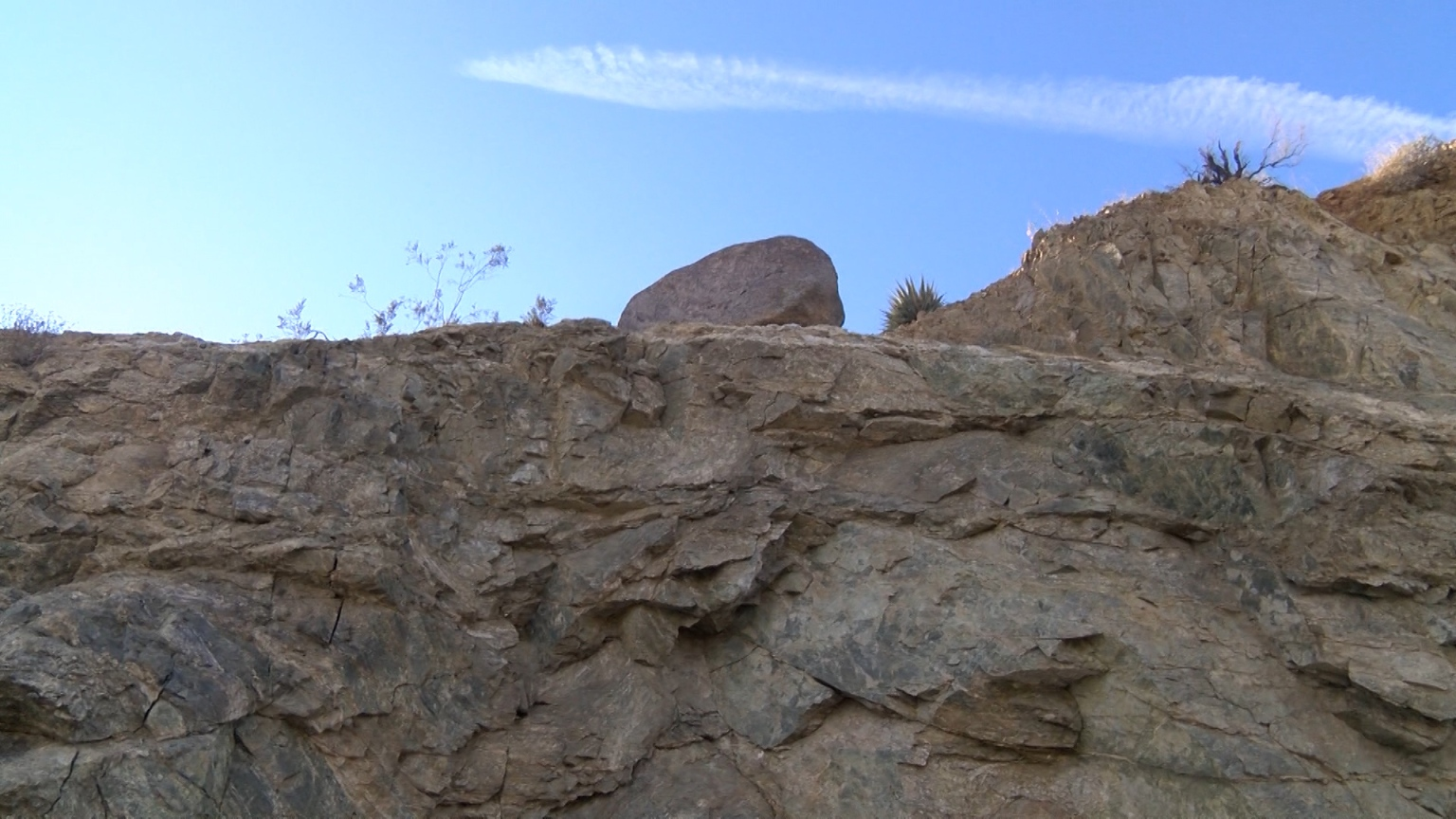 Woman Worried Boulder Will Fall and Kill Someone on HWY 74