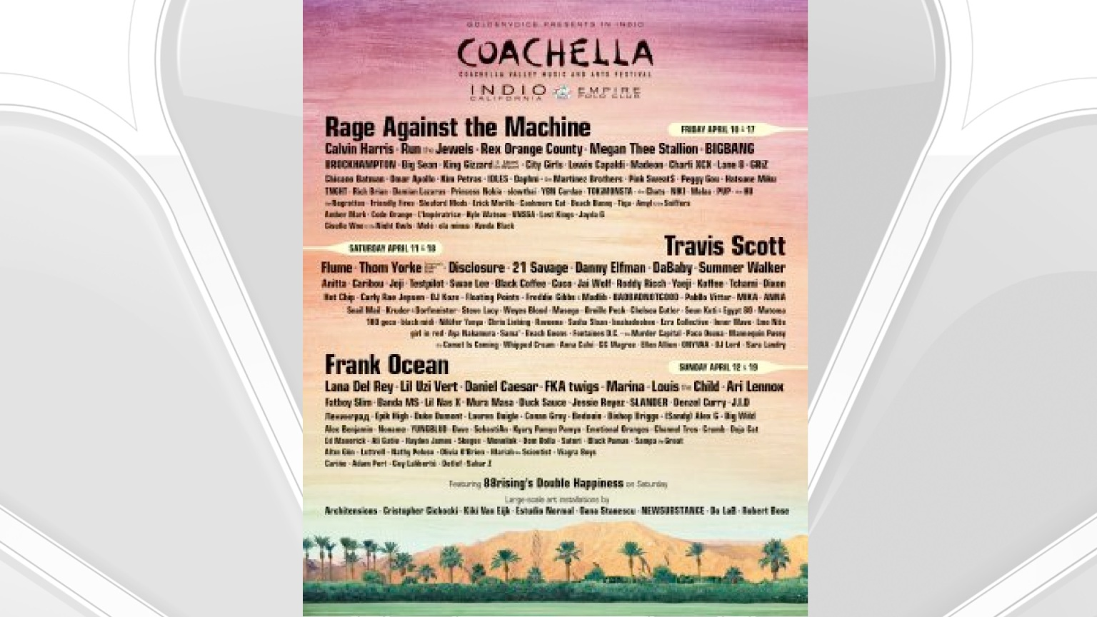 Coachella Announces Headliners at This Spring's Festival