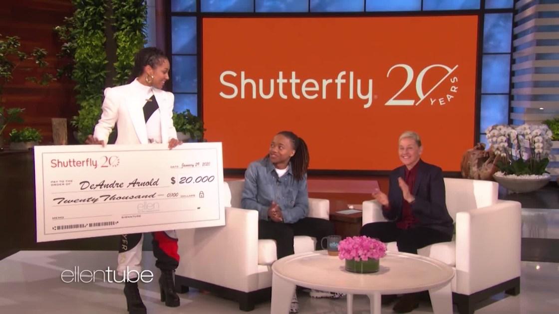 Ellen DeGeneres and Alicia Keys present $20,000 scholarship to Texas teen told to cut his dreadlocks or miss graduation