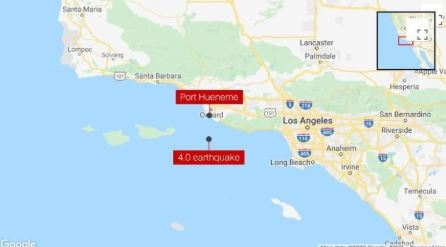 A 4.0 magnitude earthquake lightly shakes the Los Angeles area