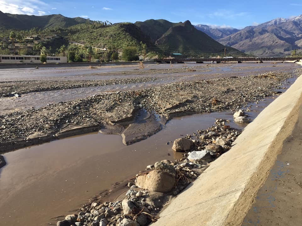 Work at Palm Springs Wash Creates a Muddy Mess For Neighbors