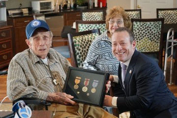 92-year-old World War II veteran was awarded his medals more than 70 years after the war