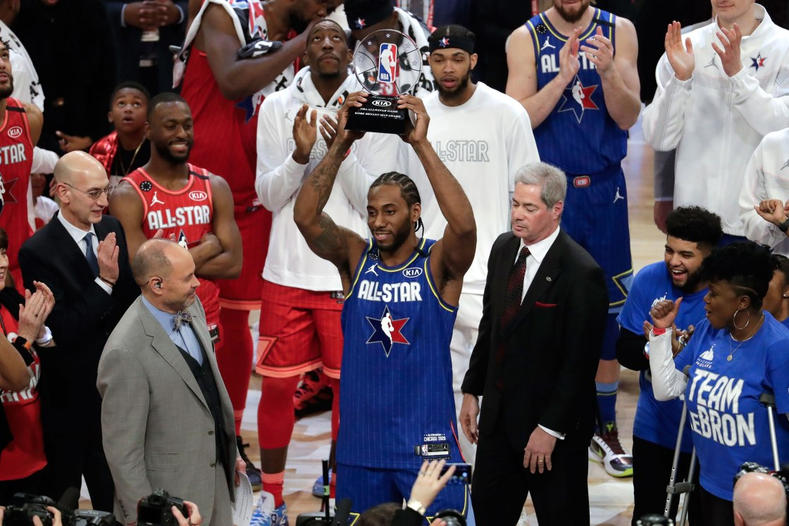 Kawhi Leonard named the first winner of the Kobe Bryant MVP Award at the NBA All-Star Game