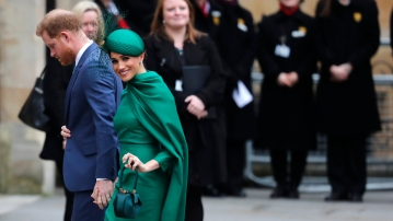 Harry and Meghan bid farewell to life as senior royals with final engagement