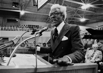 Bayard Rustin, a gay civil rights leader arrested for having sex with men, is pardoned 67 years later