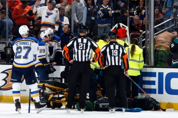 NHL player Jay Bouwmeester doing well after cardiac event that required defibrillator