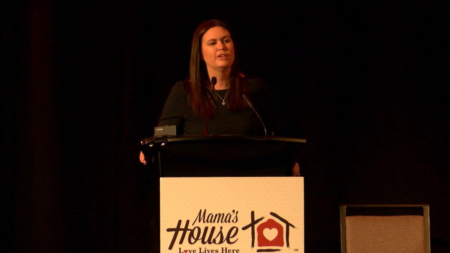 Sarah Huckabee Sanders, Featured Speaker at Mama's House Major Fundraiser
