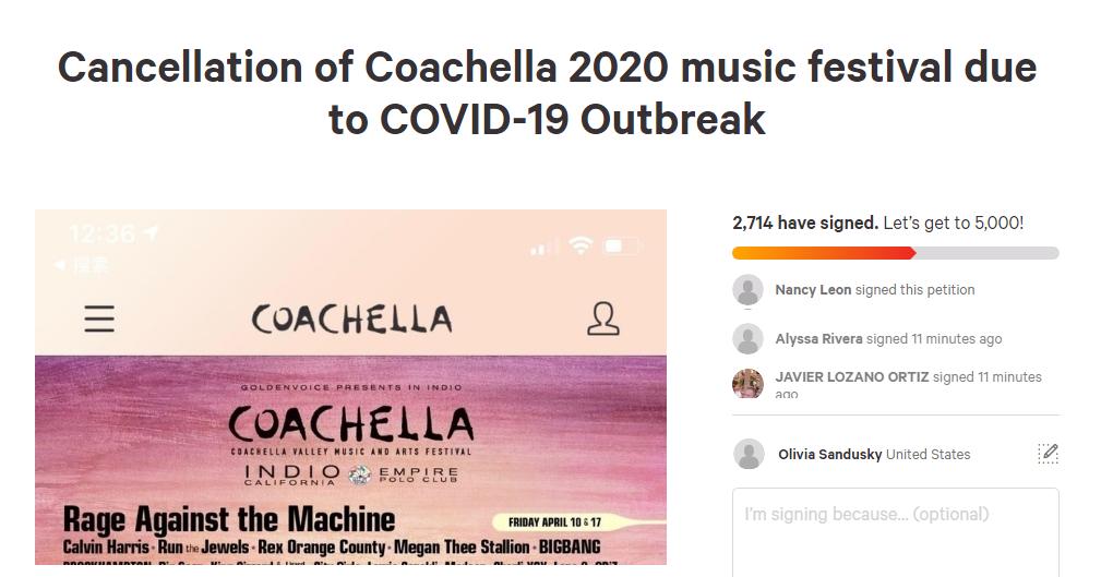 Petition to cancel Coachella circulates after Coronavirus concerns