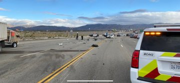 5-Vehicle Crash on Gene Autry Trail Sends 3 to the Hospital; Roadway Open