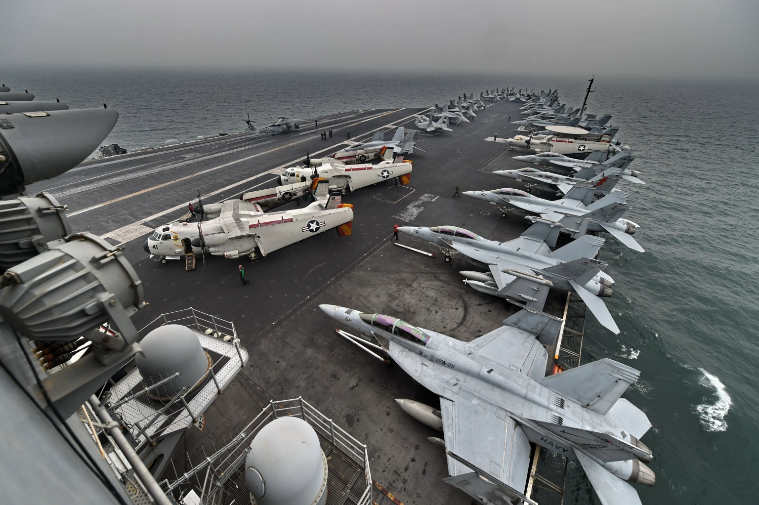 Rapid increase in coronavirus cases aboard US aircraft carrier