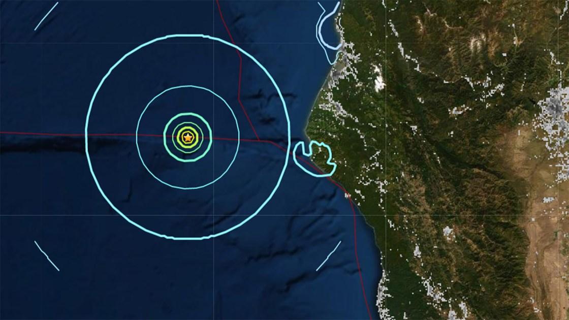 Magnitude 5.8 earthquake strikes off Northern California coast
